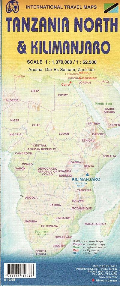 Kilimanjaro (Tanzania - Kenya) mountain map