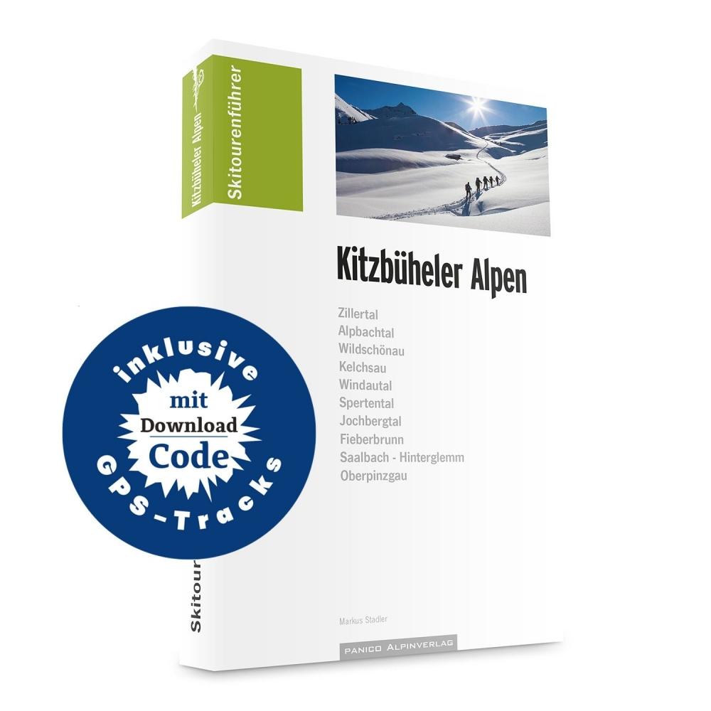 Skialpinistický průvodce Kitzbühel: Skitourenführer Kitzbüheler Alpen +  GPS souřadnice