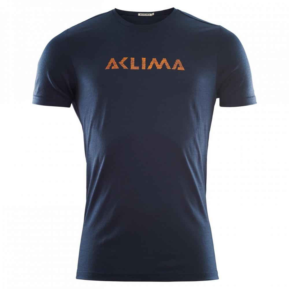 Aclima LightWool T-shirt Logo Man Navy Blazer