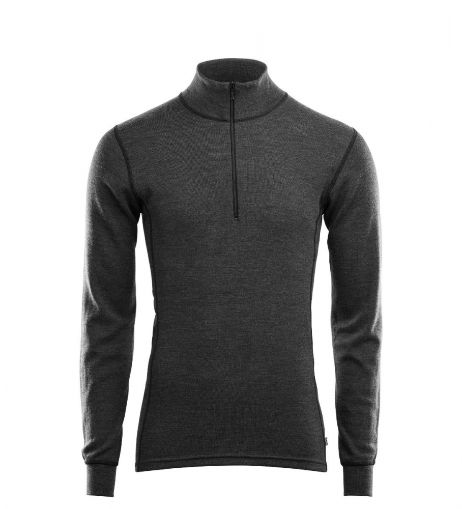 Aclima WarmWool Mock Neck Shirt W/Zip Man marengo