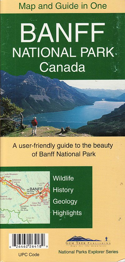 Banff National Park map & guide in one 1:250,000
