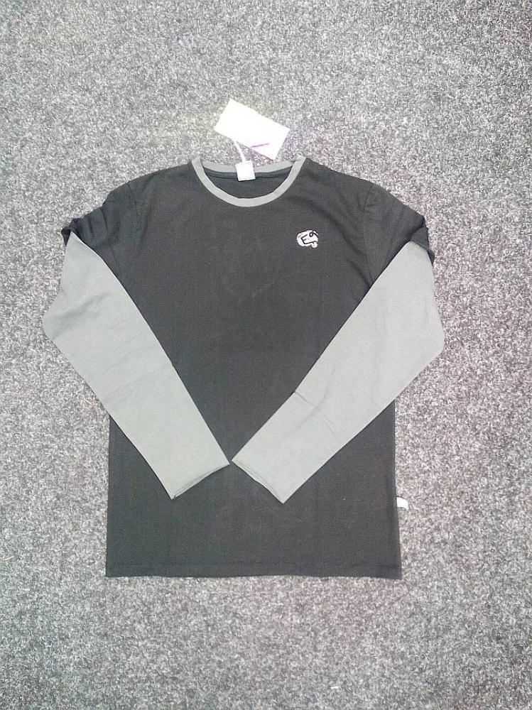 E9 BISSA tričko pánské dlouhý rukáv| barva BLACK/IRON vel. XL