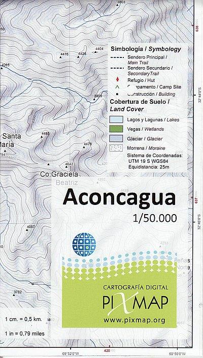 Aconcagua - mapa 1:50 000