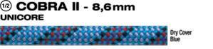 Beal Cobra 8,6mm UNICORE Dry Cover modrá