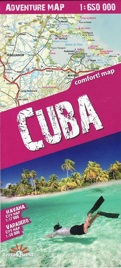 Cuba - Terraquest Adventure Map 1:650,000