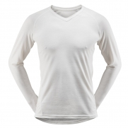 Devold Breeze Man Shirt V-Neck White |L