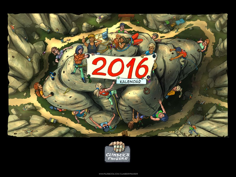 Climber´s Fingers Vtipný horolezecký kalendář 2016