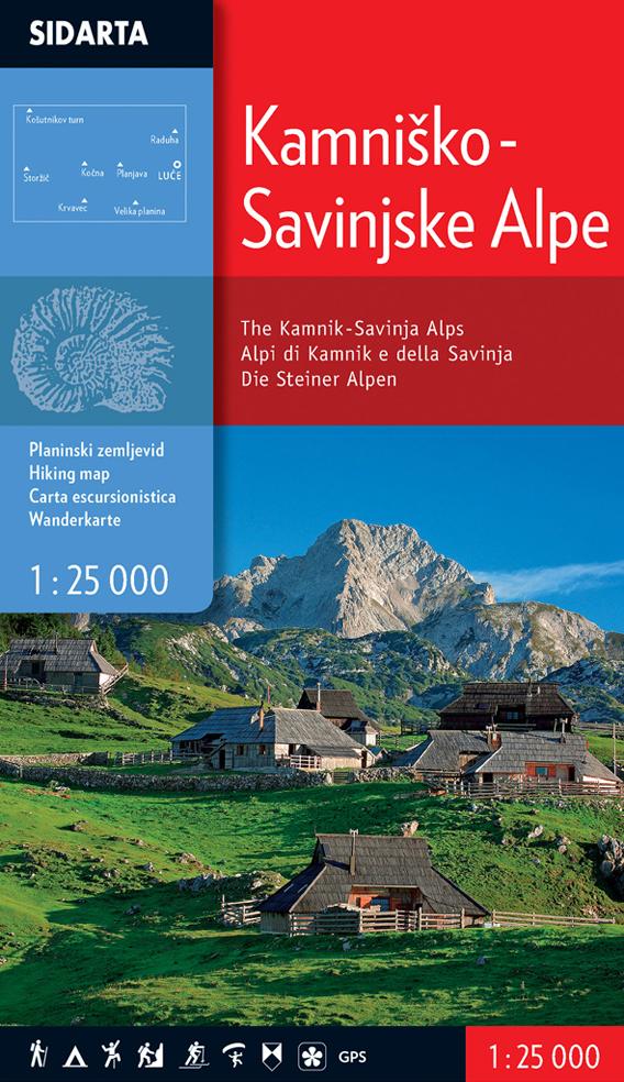 Kamniško Savinjske Alpy 1:25000
