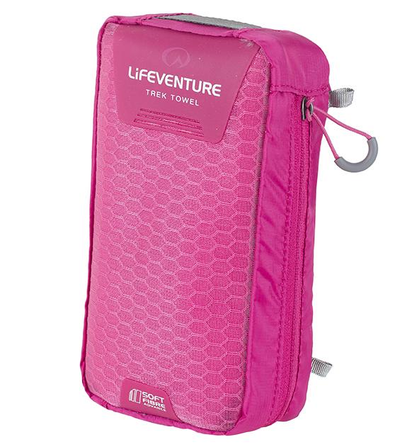 Lifeventure SoftFibre Trek Towel Pink