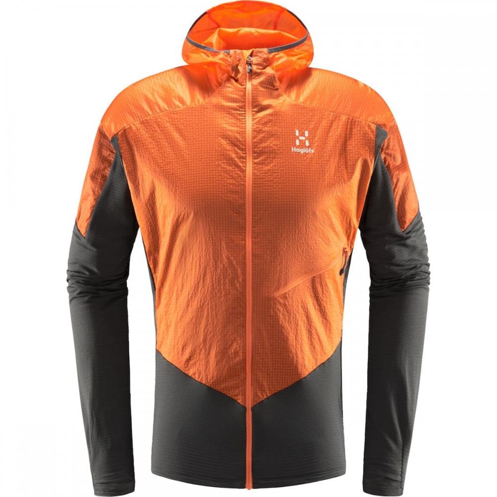 Haglöfs L.I.M Hybrid Hood Men Magnetite/Flame Orange