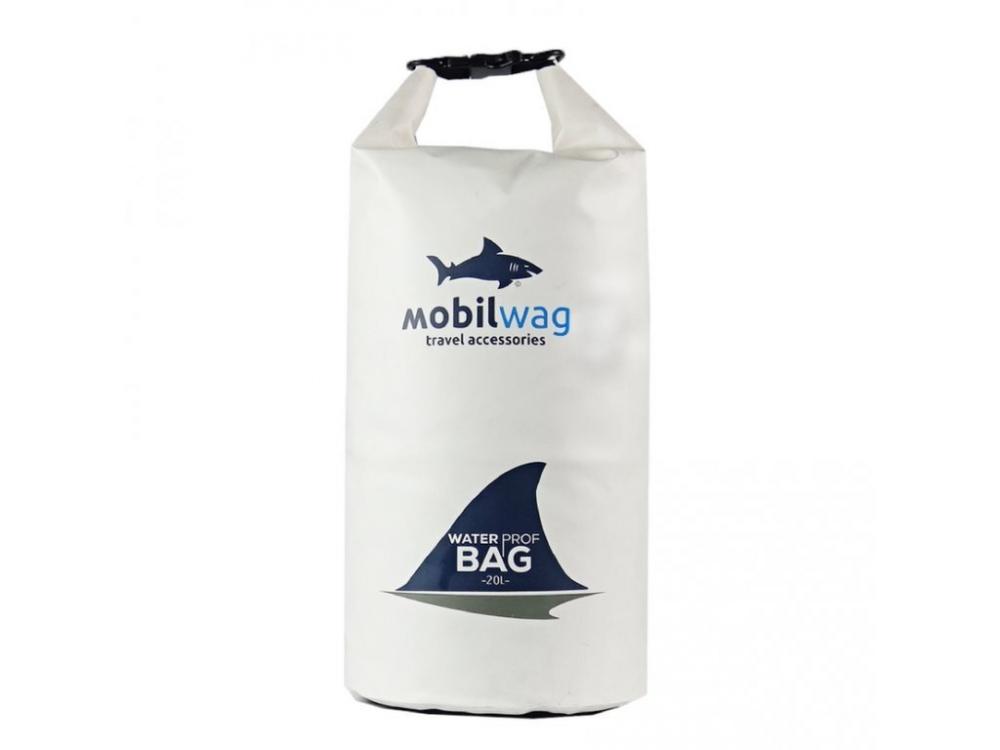 Vodotěsný mobilwag s popruhy bílá