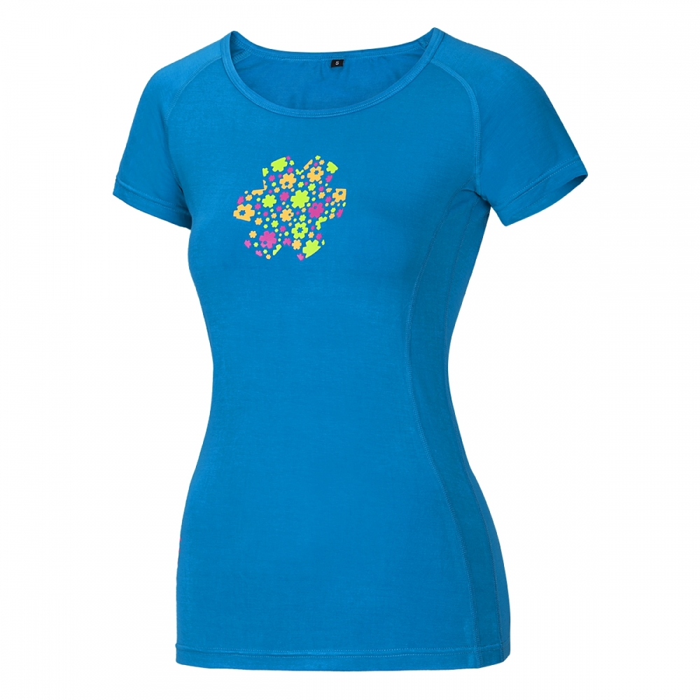 Ocun Bamboo T Meadow Women Vivid Blue