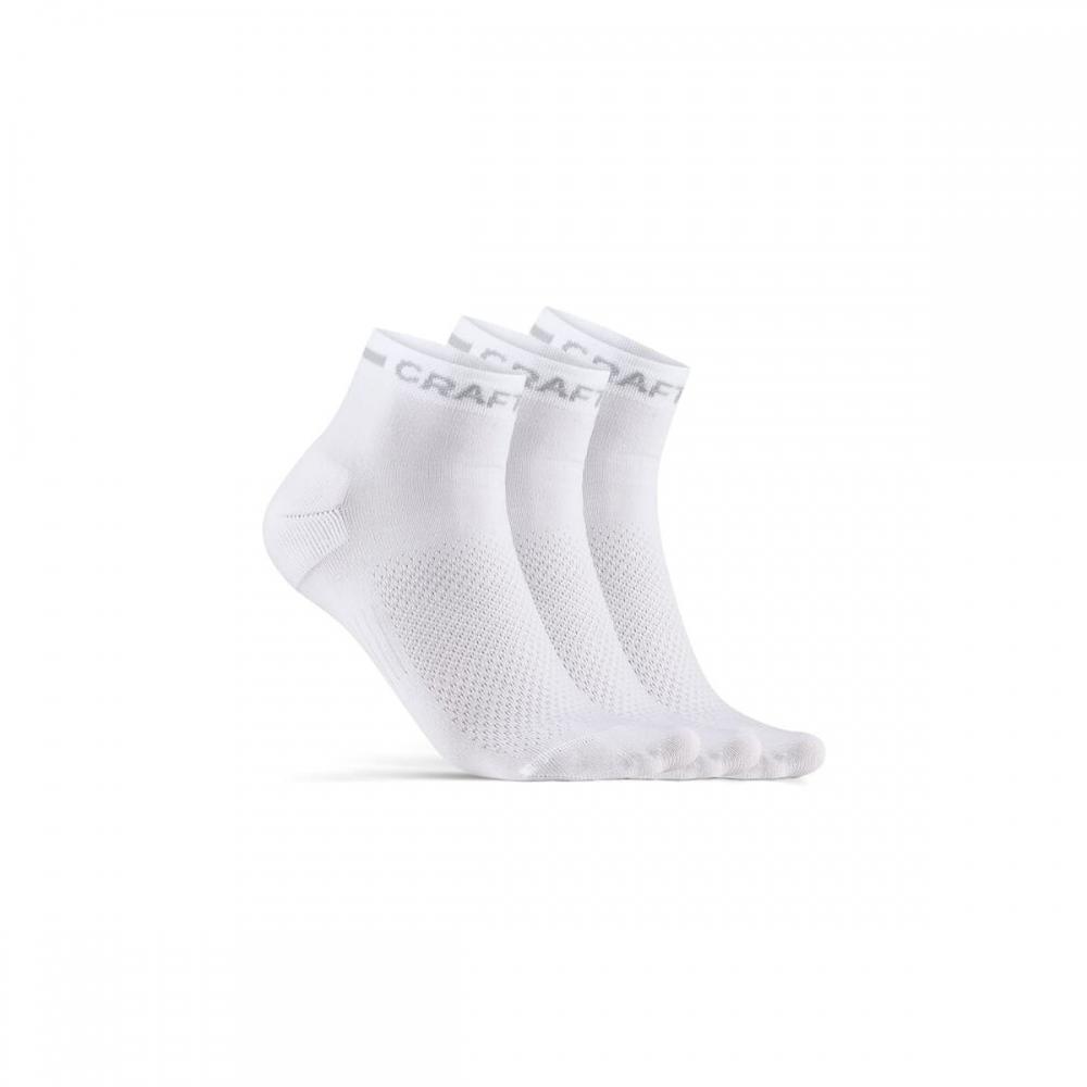 Ponožky CRAFT CORE Dry Mid 3p bílá
