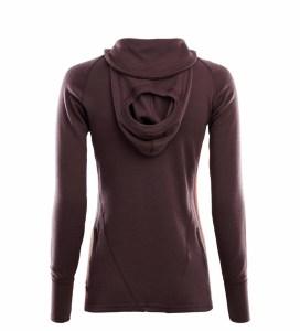 Aclima WarmWool Hood Sweater Woman fudge/red ochre Image 1