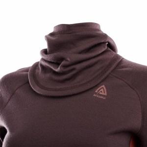 Aclima WarmWool Hood Sweater Woman fudge/red ochre Image 3