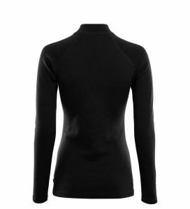 Aclima WarmWool Mock Neck Shirt W/Zip Woman jet black Image 1