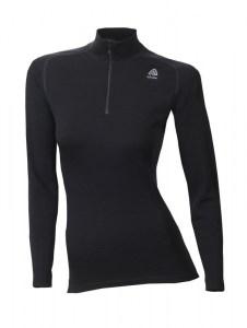 Aclima WarmWool Mock Neck Shirt W/Zip Woman jet black Image 0
