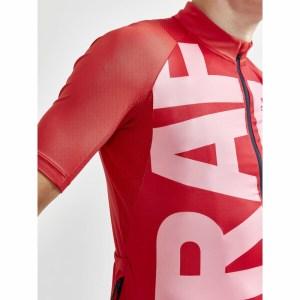 Cyklodres CRAFT ADV Endur Graphic červená s růžovou Image 3