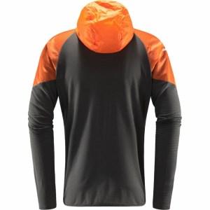 Haglöfs L.I.M Hybrid Hood Men Magnetite/Flame Orange Image 1