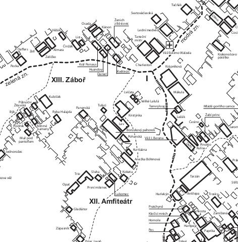Mapa Teplických skal